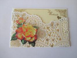 Grußkarte zur Hochzeit, Glückwunschkarte