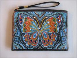 Tasche Schmetterling Blau , Handarbeit