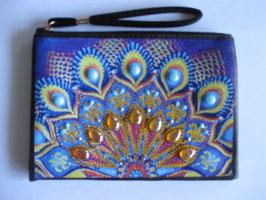 Tasche Ornamente , Handarbeit, Blau