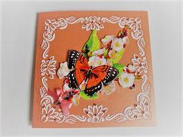 Grußkarte Neutral  Orange oder Creme