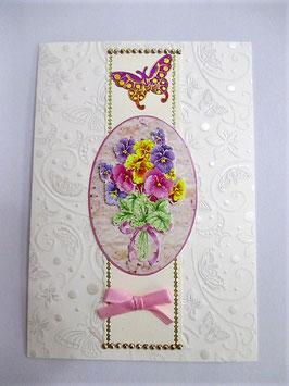 Grußkarte Blumen Blumenstrauß 2
