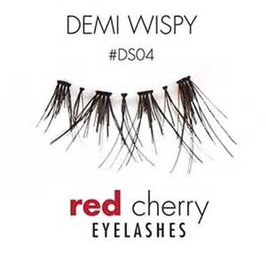 Red Cherry Eyelashes Demi Wispy Style DS04