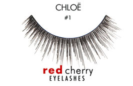 Red Cherry Eyelashes Chloë Style 1