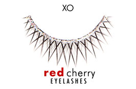 Red Cherry Eyelashes Glitter Style XO