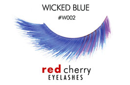 Red Cherry Eyelashes Wicked Blue Style W002
