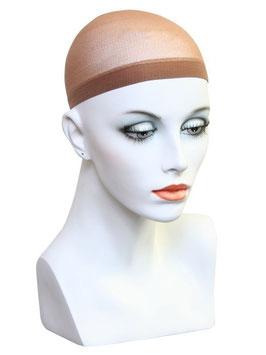 Wig cap donker bruin