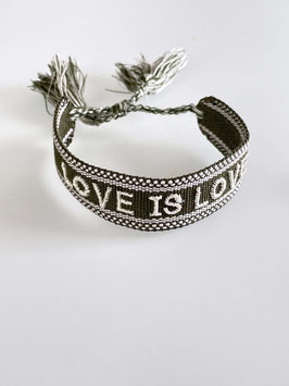 Armband Love is Love grün