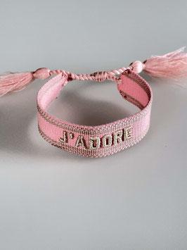 Armband J'adore pink