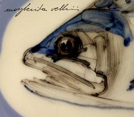 PIATTO IN PORCELLANA CON PESCE DEL LAGO TROTA ART. 07