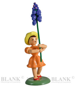 Blumenkind mit Traubenhyazinthe