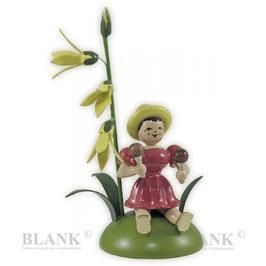 Blumenkind sitzend mit Forsytie / Rumbakugel
