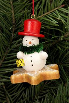 Schneemann auf Lebkuchenstern