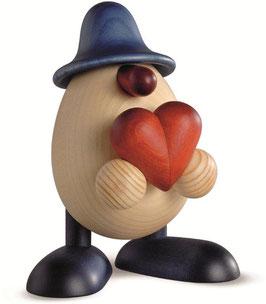 Eierkopf Hanno mit Herz