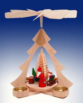 Weihnachtspyramide-Bescherung