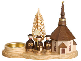 Kurrendebrettchen mit Seiffener Kirche