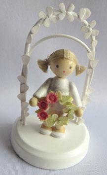 Geburtstagskind mit Blumenkranz, rose