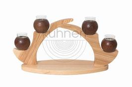 Tischleuchter 4 Kerzen, braun