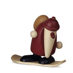 Weihnachtsmann auf dem Snowboard