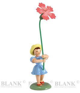 Blumenkind mit Nelke