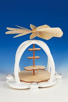 """Teelichtpyramide """"Wolkenzauber"""""""
