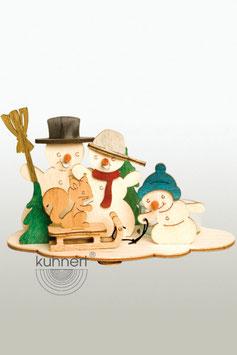 Bastelset Teelichthalter mit Schneemann