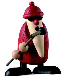 Weihnachtsmann am Mikrofon , extrovertiert
