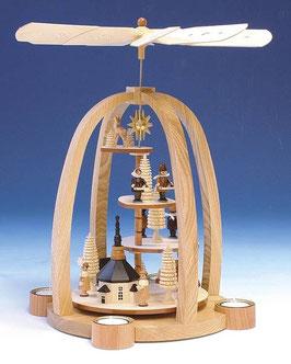 Teelichtpyramide mit Treppe