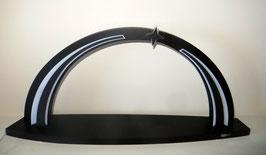 LED-Bogen Black line incl. Stern
