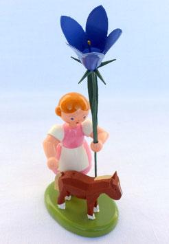 Mädchen mit Glockenblume und Pony