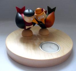 Launevögel auf Teelichthalter