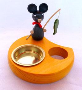 Teelichthalter Maus mit Angel