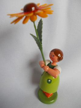 Mädchen mit Kokardenblume