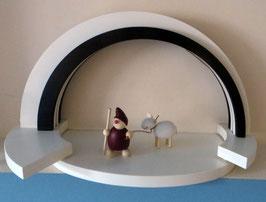 Holz-Design-LED Bogen auf Stufen Basis Fläche