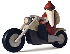 Weihnachtsmann auf Motorrad