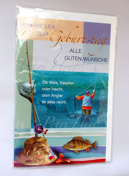 Glückwunschkarte für Angler zum Geburtstag
