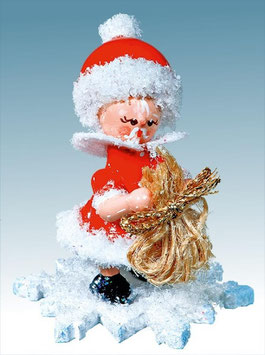 Schneeflöckchen als Weihnachtsmann
