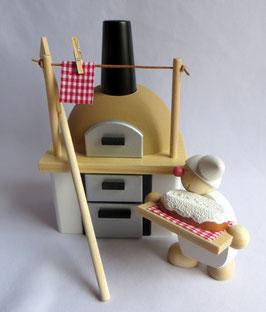 Räucher-Backofen mit Brotschieber und Stollenwicht