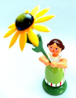 Mädchen mit gelben Sonnenhut
