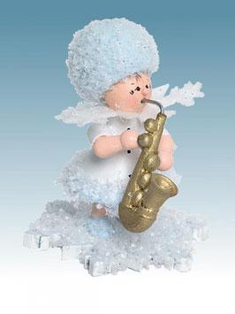 Schneeflöckchen mit Saxophon