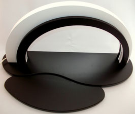 Holz-Design-LED Bogen komplett mit Dekofläche und Vorlegebrettchen