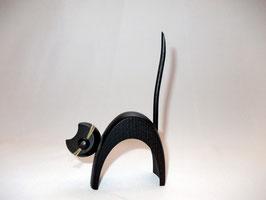 Katze stehend, schwarz