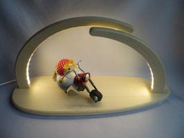 LED- Leuchterbogen mit Bikerbiene (Räucherfigur)