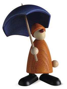 Gratulantin Charli mit Schirm