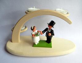 Hochzeitspaar auf Teelichthalter