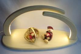 LED- Leuchterbogen mit Apfelwicht und Korb