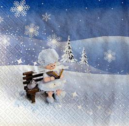 Servietten mit Schneeflöckchen