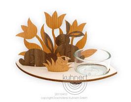 Teelichtständer mit Osterhase zum Selbstzusammenstecken
