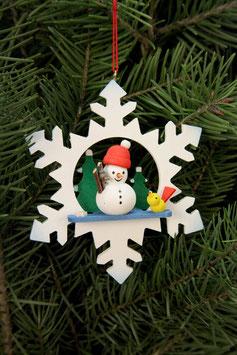Schneeflocke mit Schneemann