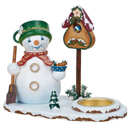 Schneemannwichtel mit Teelicht