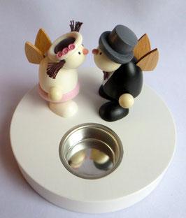Teelichthalter bestückt mit Brautpaar